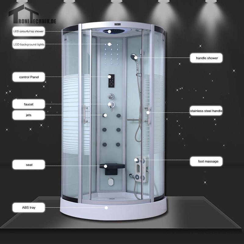 Quadrant Steam Shower Cubicle Enclosure Bath Cabin Room 800mm Luxury ...