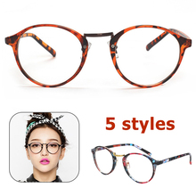Women Clear Glasses Frame Men Round Transparent Eyeglasses Frames Vintage Lens Optical Spectacles Eyewear