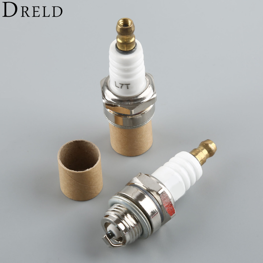 DRELD 2Pcs 25cc 52cc 62cc Chainsaw Brush Cutter Spark Plug for 2 Stroke Engine MS180 MS250 MS070 Husquarna 365 Trimmer 260 430