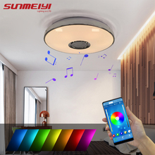 Modern LED Ceiling Lights Bluetooth Music Ceiling Lamp For Living room Bedroom Party Decor RGB Kids room Light lampy sufitowe цены