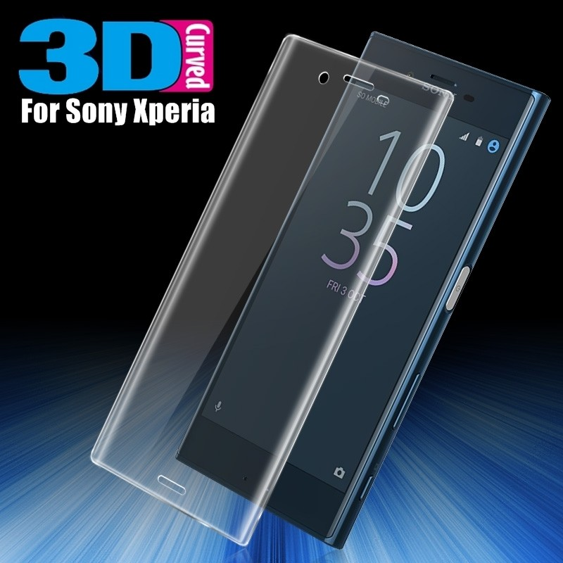 GXE 3D Curved Full Cover Tempered Glass Screen Protector For Sony Xperia  XZ1 Compact XZ Premium XZs X Performance XA Ultra XA1
