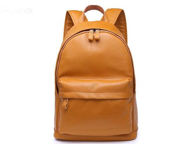 Unisex genuine leather cow skin medium backpack soft rucksack school bag стоимость