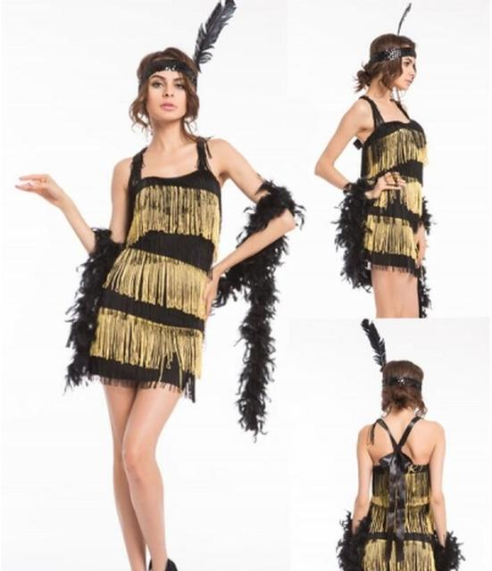 free pp 1920s flapper fancy dress costume charleston gangster cosplay outfit halloween costumes for women