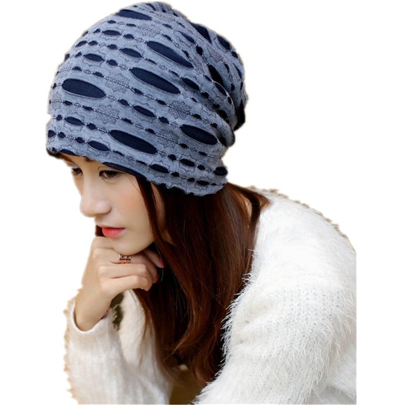812dfd45af2004 Female autumn winter spring cotton line striped scarf hat Ms. hedge fashion  maternal child women
