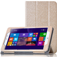 Fashion Silk Pattern PU Leather Protective Folding Folio Case For CHUWI Hi8 For 8 Tablet PC