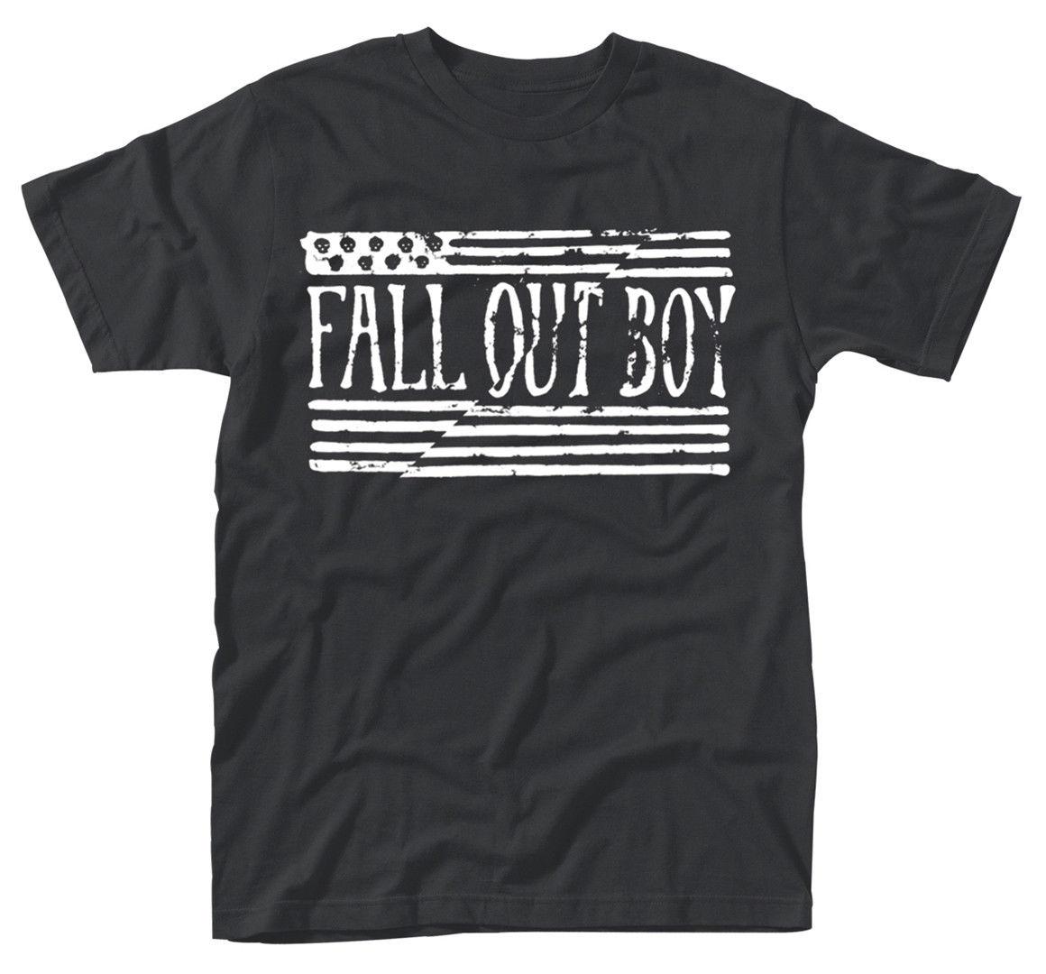 Fall Out Boy US Flag T-SHIRT - NUOVO E ORIGINALE