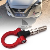 Aluminum Universal Car Auto Racing CNC Trailer Ring Tow Hook Car Screwon Front Rear For Japanese