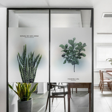 Frosted glass stickers Watercolor monstera leaves Bathrooms balcony door windows electrostatic transparent opaque film