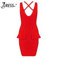 Indressme 2017 새로운 섹시한 패션 깊은 v 넥 최소 중공 여름 여성 레이디 dress