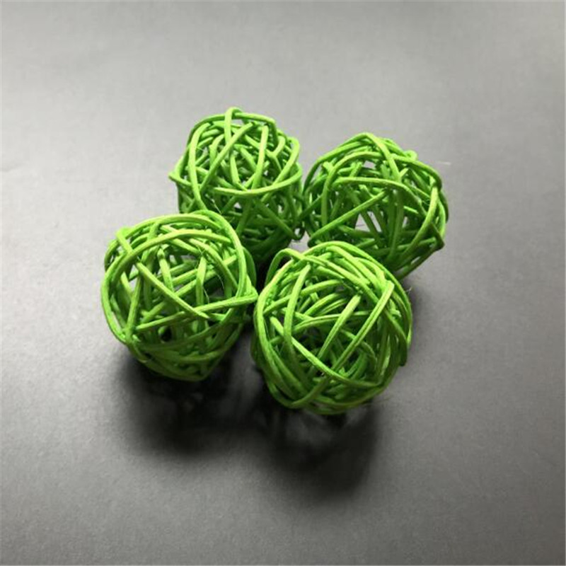 30pcs Green Rattan Ball for Fairy LED Festival Lantern Wedding Party Xmas Decor Lights