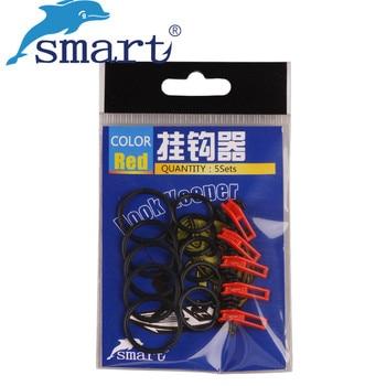 SMART 20 juegos de ganchos (2 círculos y 1 portero de plástico)/juego de caña tenkara Clip ganchos colgantes soporte para aparejos de Pesca