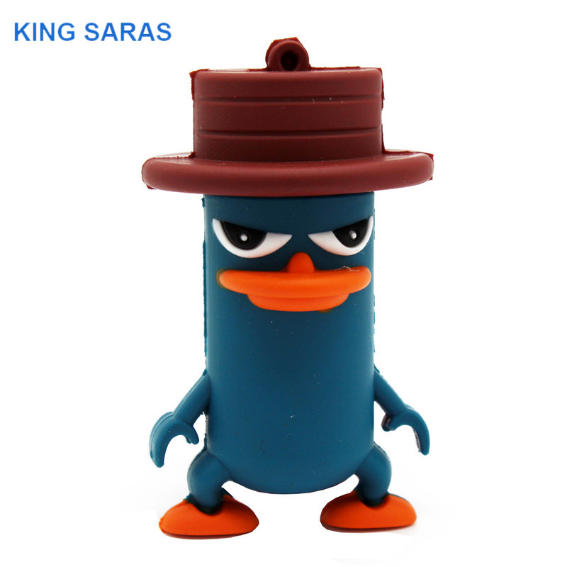 External Storage King Saras Newsute Cartoon Usb2.0 4gb 8gb 16gb 32gb 64gb Hat Duck Usb Flash Drive Creative Stick Pendrive Yet Not Vulgar