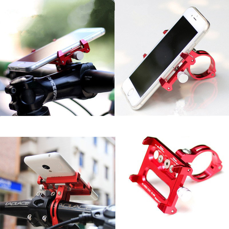 CNC Alloy Electric Skateboard Phone Stand GPS Holder for Xiaomi Mijia M365 Scooter Qicycle EF1 Bike Fits 3.5 to 6.2 inch Phone