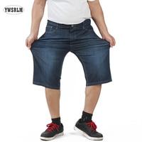 YWARLM Brand 2017 Summer Shorts Men Clothing Denim Shorts Men Knee Length Big Size 30 31