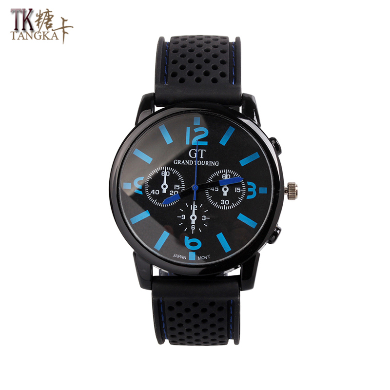Digital display analog quartz watches men's watches waterproof rubber watch strap simple fashion outdoor wear the best jewelry outdoor rubber analog number watch