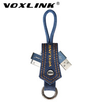 VOXLINK NEW 30 Pin Mobile Phone Cable denim Keychain Data Transfer USB Charge Cable for iphone 4 4s iPad 2 3 Fast Charging Cable