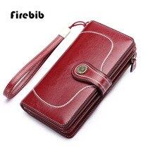 Große Kapazität Split Leder Kartenhalter Qualität Brieftasche Lange Frauen Brieftasche Reißverschluss Clutch Casual Reißverschluss Retro Geldbörse Frauen