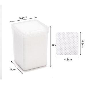 Image 5 - Removedor de unhas de algodão absorvente, removedor de fiapos, toalhetes de algodão para unhas, limpador não tóxico, 200 peças guardanapos para polimento