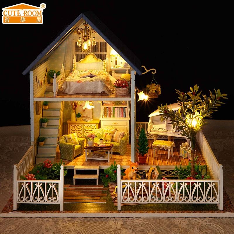 HOT SALE] DIY Kit Toys Dollhouse for Children,Wooden