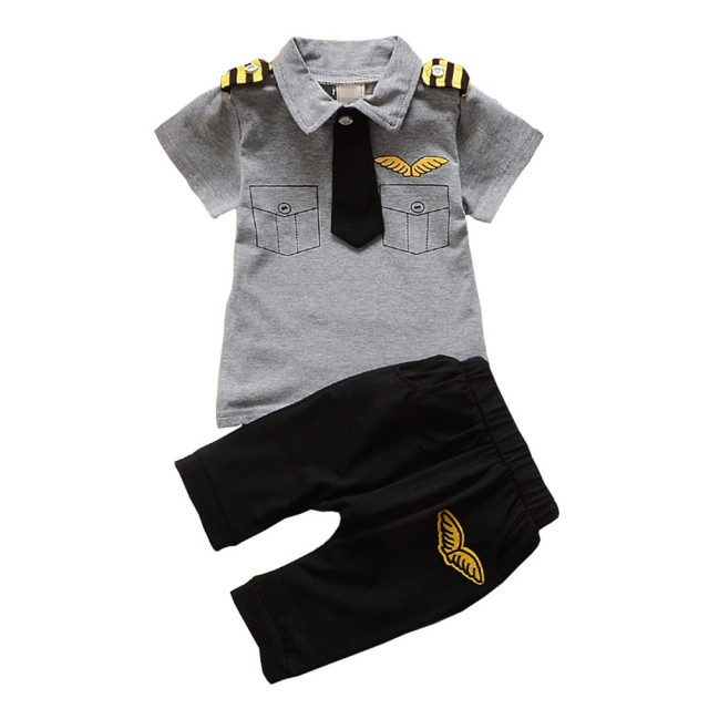 Newborn Baby Tactical Gear Clothing Set Pilot Clothes Cotton Military Uniforms