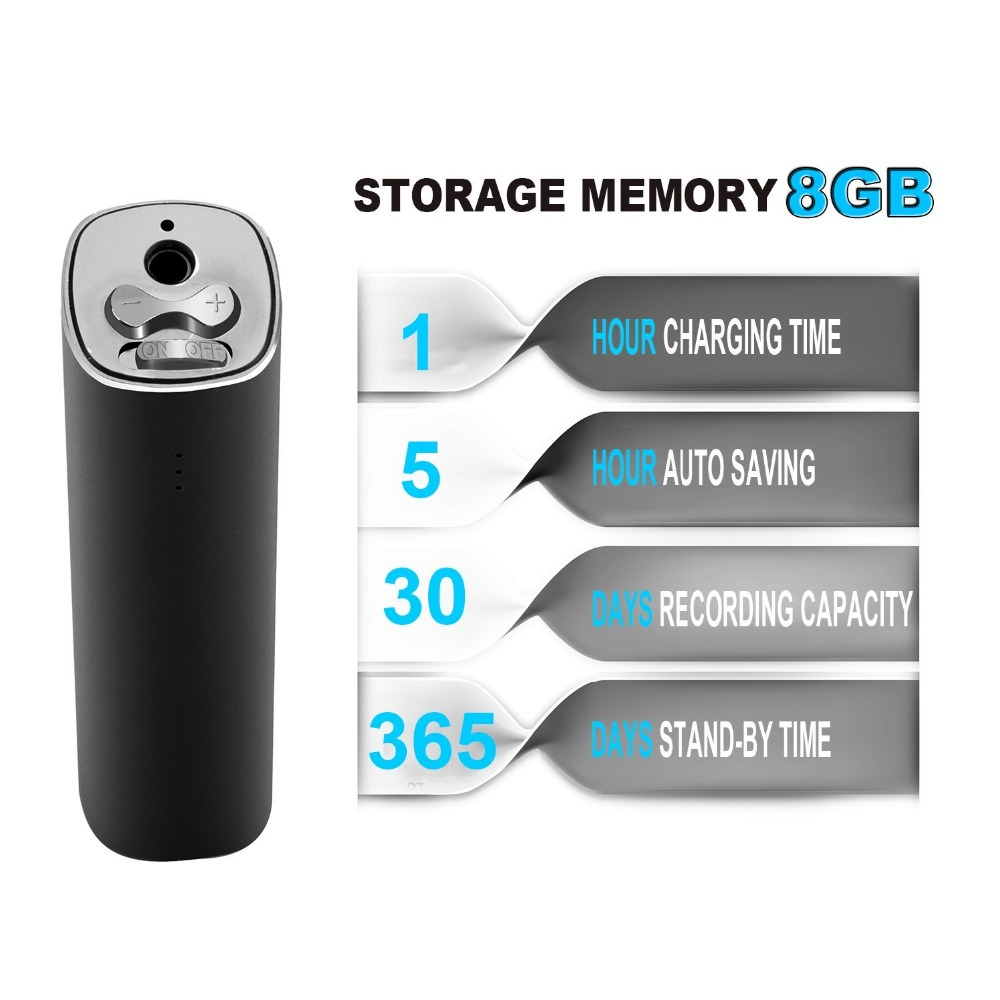 LgsixeMini Digital Voice Recorder,8GB Voice Activated Recorder 365 Standby 800 Hours Capacity Audio Sound Recording