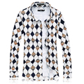 Free shipping brand plus size military men plaid color cotton Turn-down Collar long-sleeve casual shirt bust 144 cm M-7XL 6XL