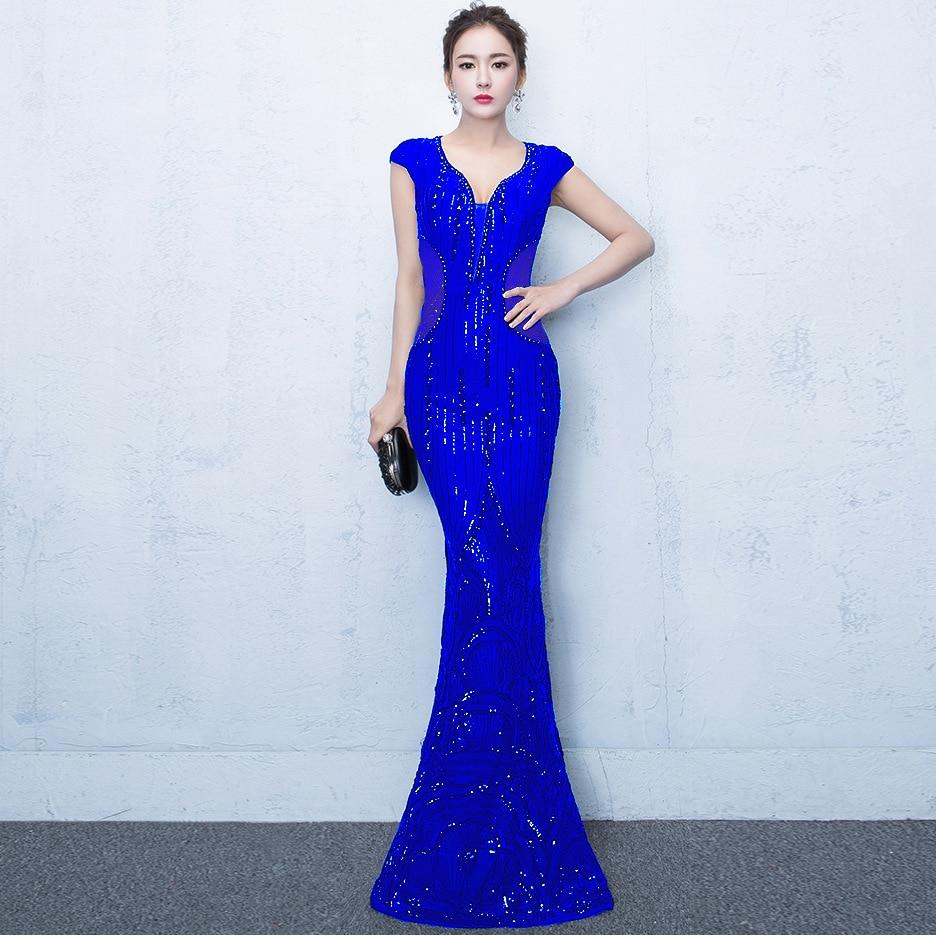 439fd236592 Dentelle Sexy Sirène Moulante rouge Bleu Robe De Longue Bal Robes Plus  D été Paillettes 2018 La Élégante Maille Femmes Rouge Taille Soirée qx04RUYt