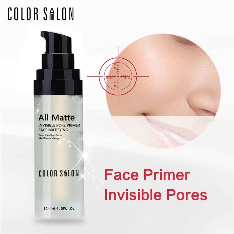 Color Salon Face Base Primer 30ml Make Up Natural Matte Pore Invisible Prolong Makeup Naked Foundation Oil-control Cosmetic sana pore putty make up base clear база под макияж выравнивающая 25g