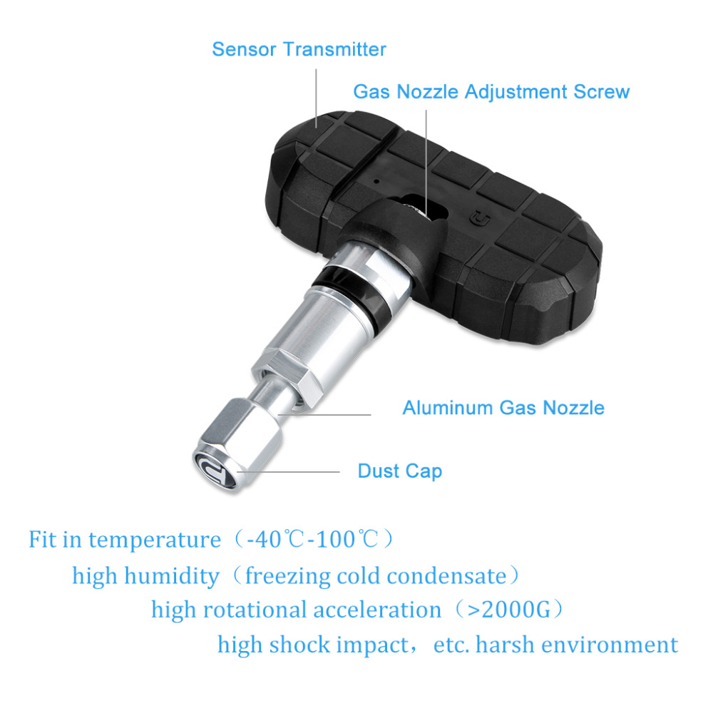 imágenes para Careud tpms sensores internos psi/bar