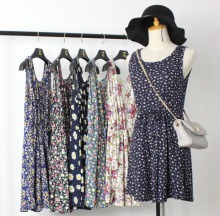 Free shipping new Fashion  woman clothes summer dress preppy style pastoral Korea sleeveless