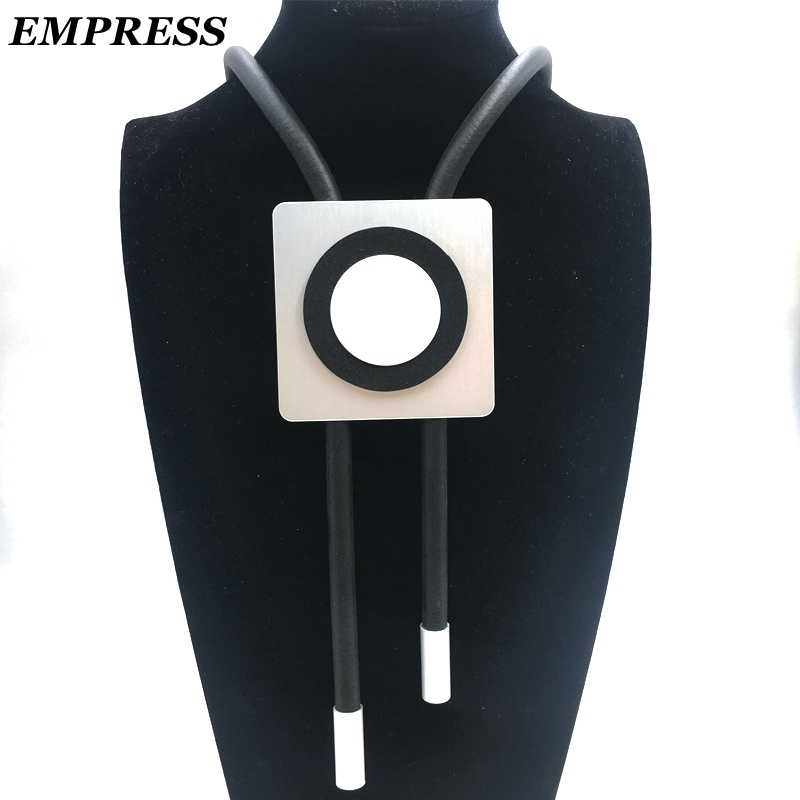 EMPRESS DIY Jewelry Handmade, Cube-Shaped Aluminum Pieces For a Collection Of Gothic Womenswear Claim To Be a Lucky Necklace.