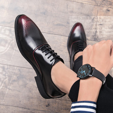 Italian Designer Brogue Shoes business dress Genuine Leather Lace Up Men Formal Dress Oxfords Party Office Wedding party shoes 4