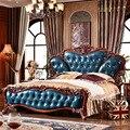 Conjunto de 4 unids Europa Estilo Dormitorio Muebles Para El Hogar juego de Cama de colchón de la Cama de Madera por el transporte marítimo