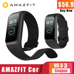 Original Huami Amazfit Band Cor 2 Smart Bracelet 5ATM Waterproof 2.5D Color IPS 316L Stainless Steel Frame xiaomi For All phone