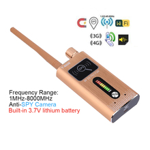 купить Hot sale T6000 Dual-Module Anti SPY Detector Camera Finder Wireless GPS Tracker SIM card RF Signal Scanner built in battery по цене 8357.34 рублей