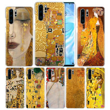 KISS Gustav Klimt untuk Huawei P20 P30 P Smart 2019 Nova 4 3i P10 P9 P8 Mate 10 20 lite Pro Mini 2017 Hard Pc Ponsel Cover Hot(China)
