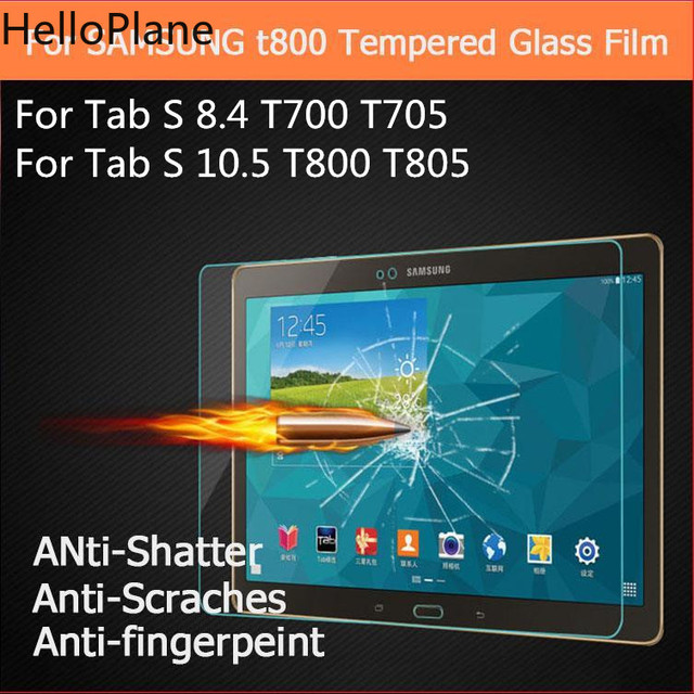 De vidrio templado para Samsung Galaxy Tab S 8,4 de 10,5 pulgadas T700 T705 T705C T800 T805 pestañas Tablet Protector de pantalla de protección película