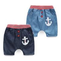 kz-6210Baby Button Jeans 2017 Summer Wear New Pattern Male Children's Garment Children's Children In Pants Fivepence Pants