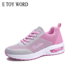 купить E TOY WORD Women Sneakers Spring Air Cushion Shoes Fashion Mesh Lace Up Sneakers Ladies Casual Shoes Breathable zapatos mujer дешево