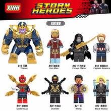 X0186 szuperhősök Thanos Wong Fekete özvegy Iron Man Lady halál pókember téglák építőkövek LEGOingy gyerekeknek Ajándék játékok