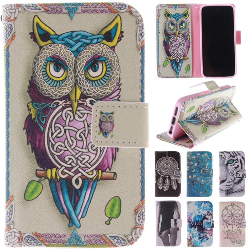 Cute Cartoon Owl Sex Girl Leather Wallet Flip Fundas Case For Microsoft Nokia Lumia 640 N640 / 640XL 640 XL N640XL Cover Capa image
