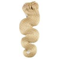 Moresoo Body Wave Bleach Blonde#613 Clip in Human Hair Extension Clip ins Human Hair Brazilian Hair Clip in Extension Full Head