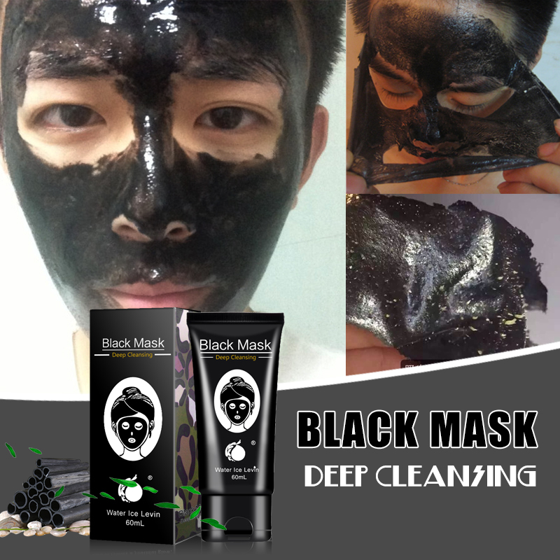 Charcoal Mask To Clear Pores And Detox Skin: Bamboo Charcoal Blackhead Removal Face Mask Clean Pores