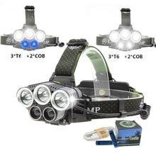 Brightfire LED Headlamp 5 CREE XM-L T6 Q5 Headlight 15000 lumens LED Headlamp Camp Hike Emergency Light Fishing Outdoor