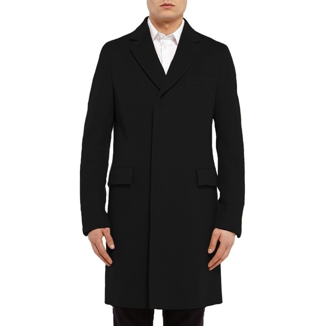 HOT Sale Fashion New Long Men's Trench Coat Single Breasted Winter ...