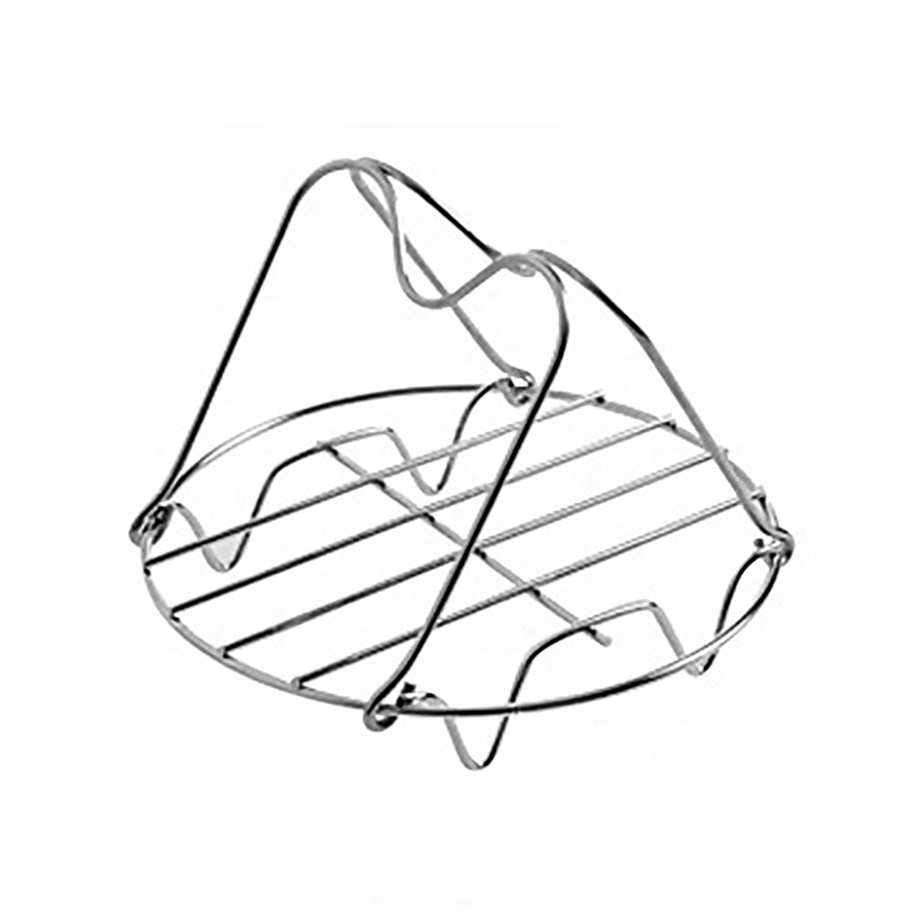 Cooking Tool Steam Rack Cheesecake Pan Stainless Steel Pan Steamer Bracket Trivet Lifting Household Folding For Instant Pot