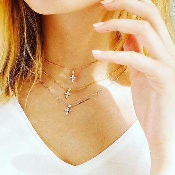Collier Femme pendentif croix 2