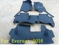 Bom! personalizado tapetes especiais de piso para a Movimentação da Mão Direita Ford Everest 7 assentos 2016 tapetes à prova d' água para o Everest 2016, Livre grátis
