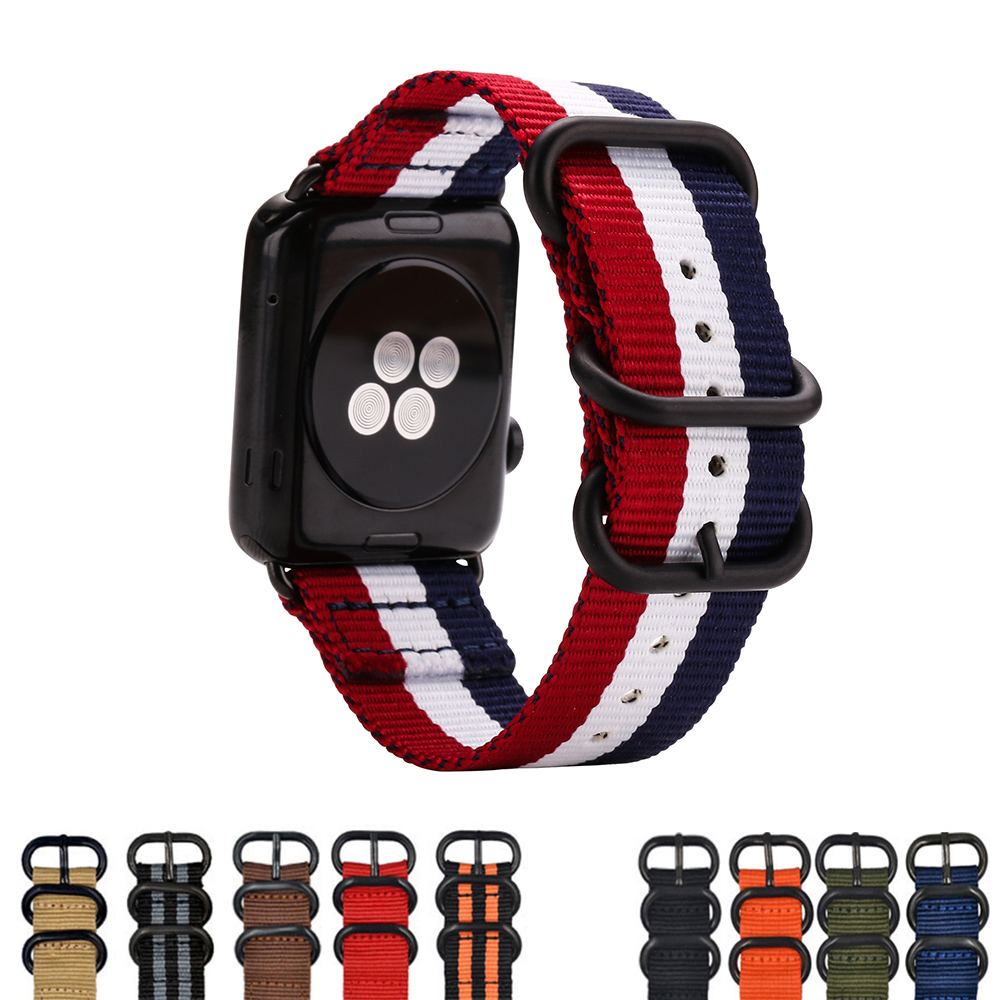 Nylon Band Strap Watchband for Apple Watch Band Series 3/2/1 Sport Bracelet 42 mm 38 mm For iwatch Band цена