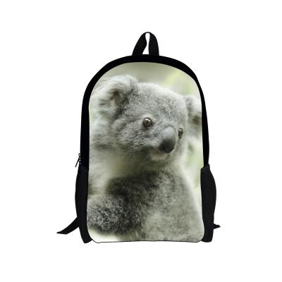 Lindo Koala Impresión Adolescente Niñas niños Bolsas Escuela Niños Mochilas Zoo Animal Dinosaurio Perro hombres Viaje Mochila Mochila Feminina